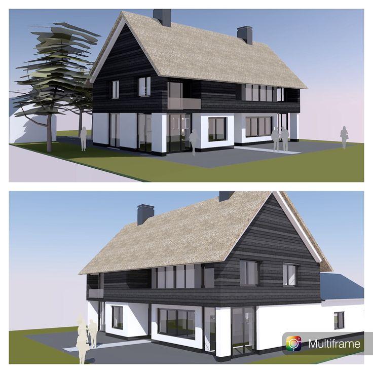 COLLO architecten maakt plan tot sloop dak bestaande villa uit de jaren '60 in Heiloo, optopping met verdieping en nieuwe kap en algehele renovatie.