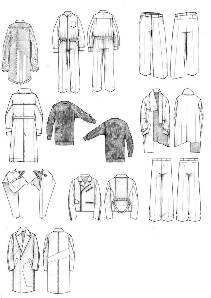 Fashion Sketchbook - technical fashion drawings; fashion portfolio // Niall Cotrell