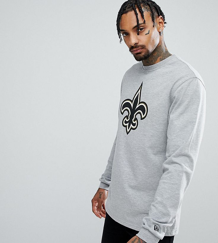 NEW ERA NEW ORLEANS SAINTS LONG SLEEVE T-SHIRT EXCLUSIVE TO ASOS - GRAY. #newera #cloth #