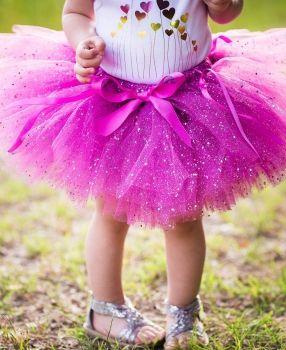 Юбка пачка детская Rufflebutts Plum Sparkle Tutu - купить юбку туту из фатина для девочек