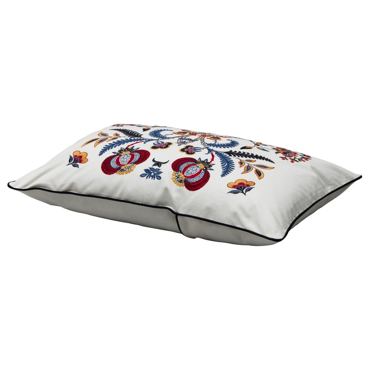 ALVINE SPETSIG  Cushion cover, white, multicolour: $20.00: Living Rooms, Spetsig Cushions, Add Life, Sofas Cushions, Accent Pillows, Basements Bedrooms, Cushions Covers, Embroidered Pillows, Alvin Spetsig
