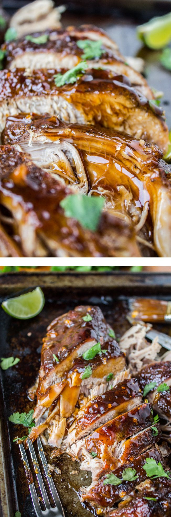 Crockpot Asian Pork Tenderloin with Ginger Glaze // It's easy, it's healthy, it's delicious. Perfect meal for company or any weeknight!