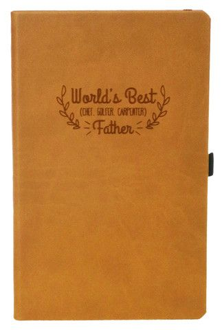 World's Best Father Engraved Journal