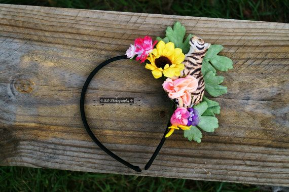 Katy Perry Inspired Roar Tiger Floral Headband.