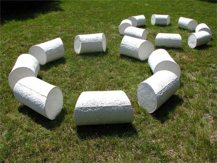 Anna Klimešová, ...And Still Round About..., 2007, 100x100x20 cm, grog clay #clay #sculpture