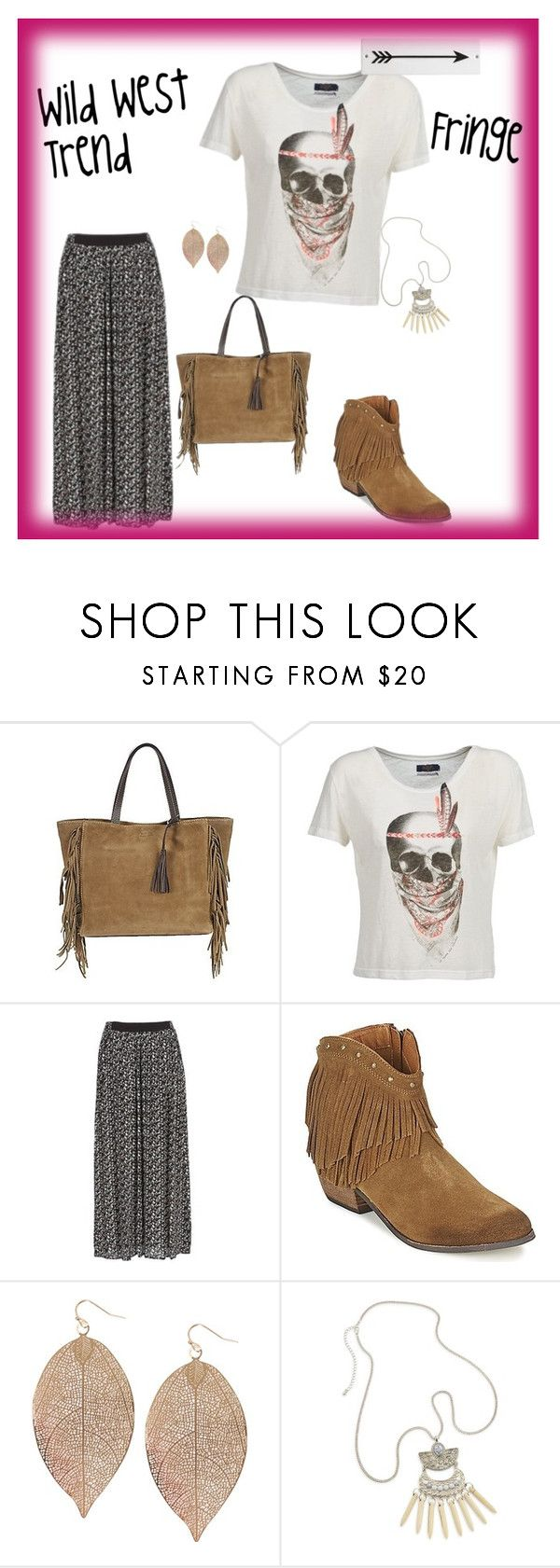"""""""Wild West Trend"""" by spartoouk ❤ liked on Polyvore featuring Loxwood, Le Temps Des Cerises, Naf Naf, Minnetonka, Humble Chic and Rosanna"""