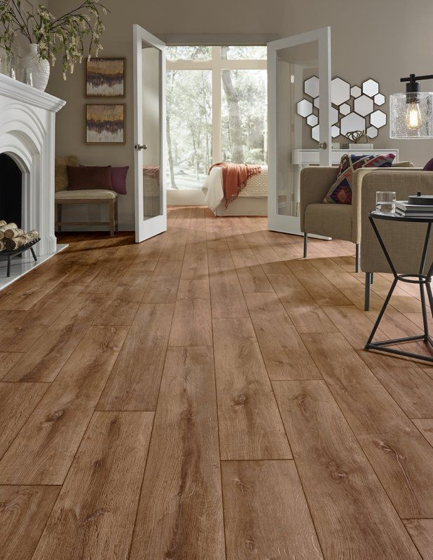 Modern Floor Laminate Restoration Wide Plank 8 X 51 X 12mm Oak Laminate Flooring In Flame Mo Oak Laminate Flooring Flooring Wooden Floors Living Room