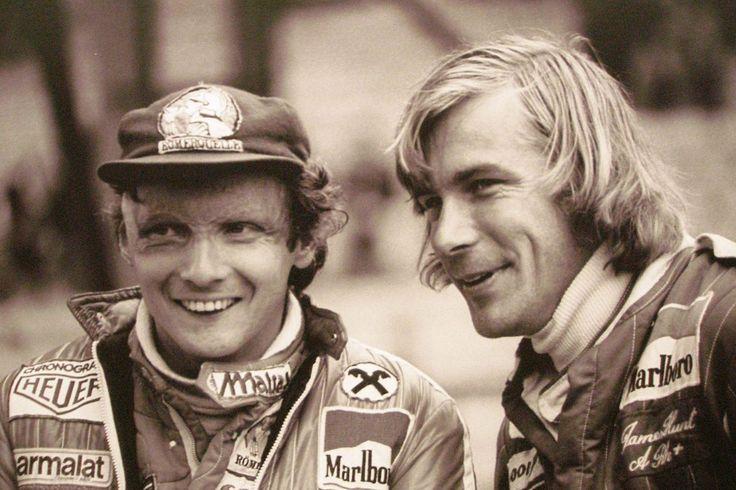 Niki Lauda e James Hunt nel 1976. Due leggende guidate dalla loro reciproca rivalità e da un'unica passione: correre.