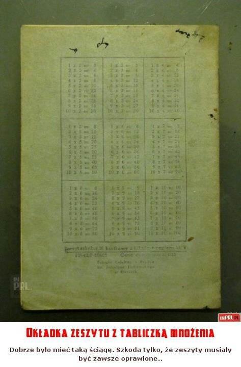 Tabliczka mnozenia/ Tableau de multiplication