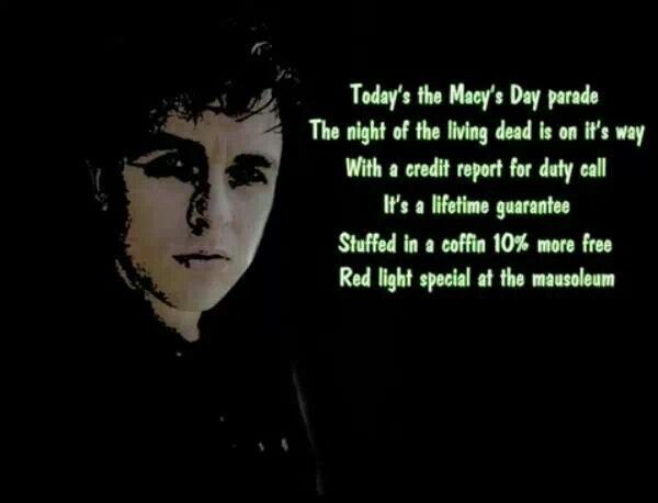 Green day macy parade lyrics