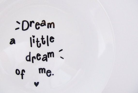 Dream A Little Dream Of Me Cute Hand Painted by LilyLovesShopping