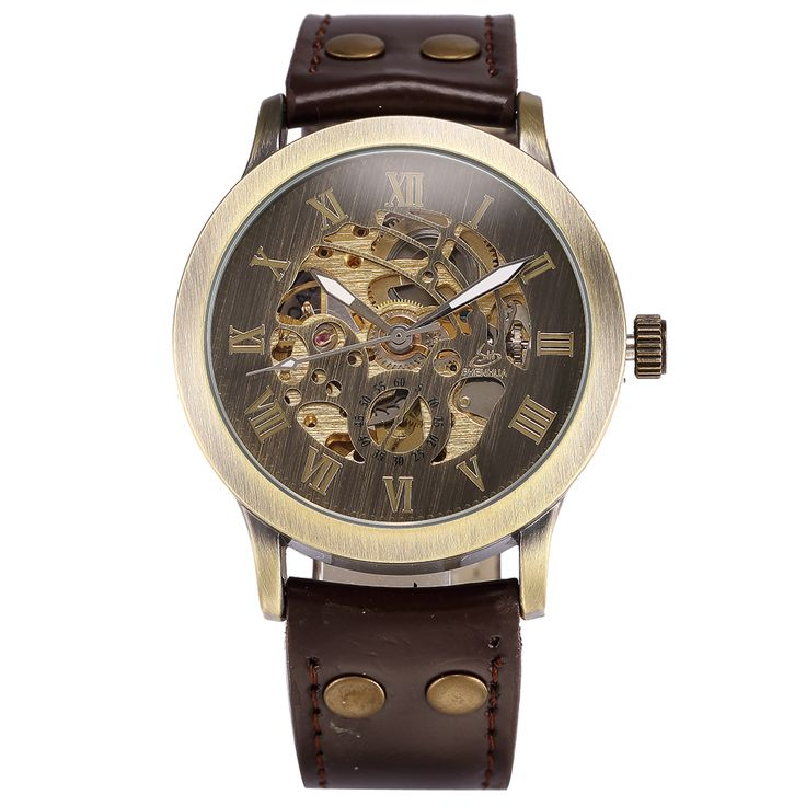 Product Features: - vintage bronze-tone case with see-through back - mechanical movement with analog display - skeleton dial featuring a small dial o