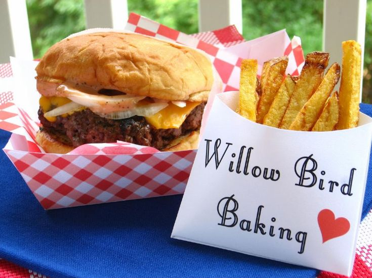 Old-Fashioned Burger Stand Burgers & Easy French Fries > Willow Bird Baking