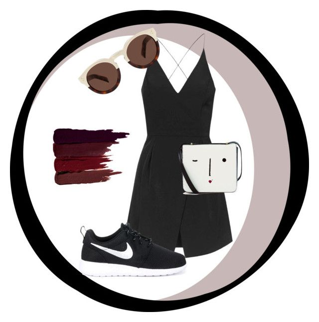 """Outfit of the Week #4"" by craneberries on Polyvore featuring Topshop, NIKE, Lulu Guinness, Illesteva and Serge Lutens"