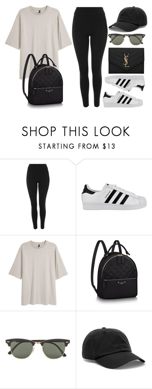 """""""#14807"""" by vany-alvarado ❤ liked on Polyvore featuring Topshop, adidas, Ray-Ban, Acne Studios and Yves Saint Laurent"""