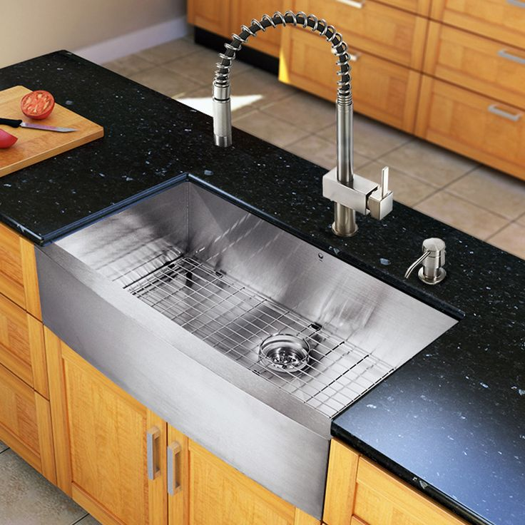 Vigo all in one 36 inch farmhouse stainless steel kitchen - Kitchen sinks austin tx ...