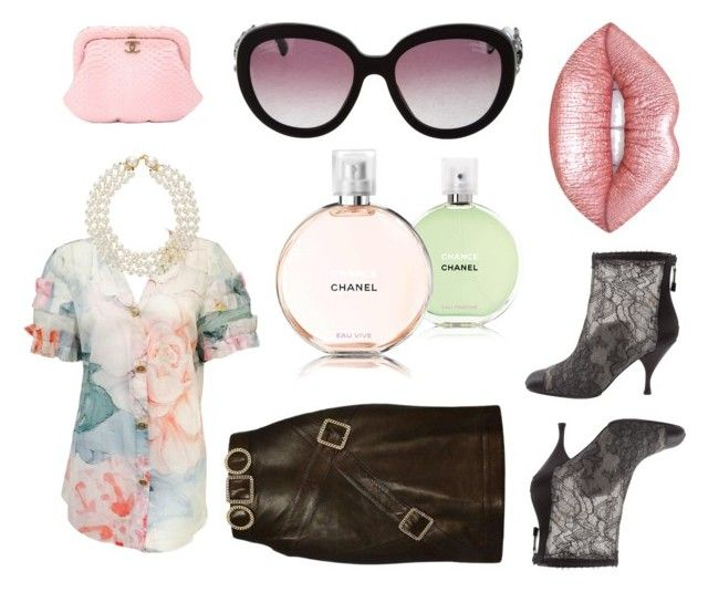 waiting for spring with chanel by eva-thomi on Polyvore featuring polyvore fashion style Chanel Lime Crime clothing