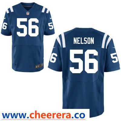 Men s Indianapolis Colts  56 Quenton Nelson Royal Blue Team Color Stitched NFL  Nike Elite Jersey ce75df806