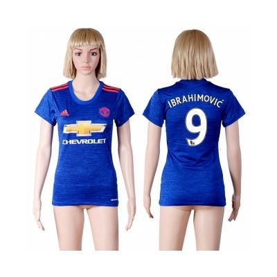 Manchester United Fodboldtøj Dame 16-17 Zlatan Ibrahimovic 9 Udebane Trøje Kortærmet.  http://www.fodboldsports.com/manchester-united-fodboldtoj-dame-16-17-zlatan-ibrahimovic-9-udebane-troje-kortermet.  #fodboldtrøjer
