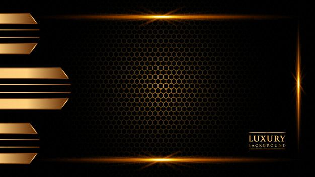 Abstract Gradient Background Gold Color Poster Background Design Black Background Images Business Card Pattern