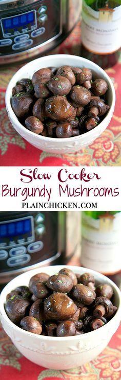 about Burgundy Mushrooms on Pinterest | Mushroom Sauce, Mushrooms ...