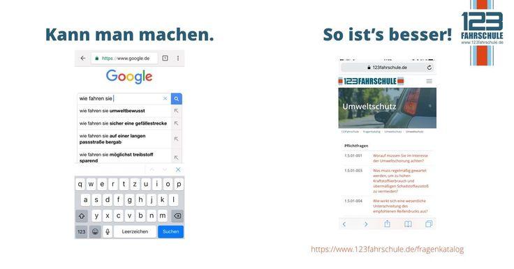 🤳 #Google fragen kann jeder - mach's gleich richtig! 🚙 #123fahrschule #amtlicherfragenkatalog #führerschein #fahrschule   https://www.123fahrschule.de/fragenkatalog
