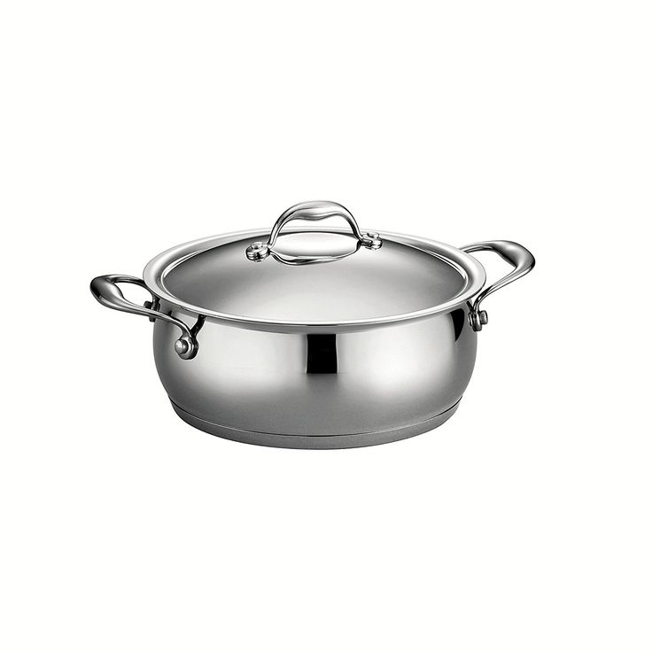 Tramontina 80102/008DS Gourmet Domus Tri-Ply Base Covered Dutch Oven, 5-Quart, 18/10 Stainless Steel -- Want to know more, visit the site now : Dutch Ovens