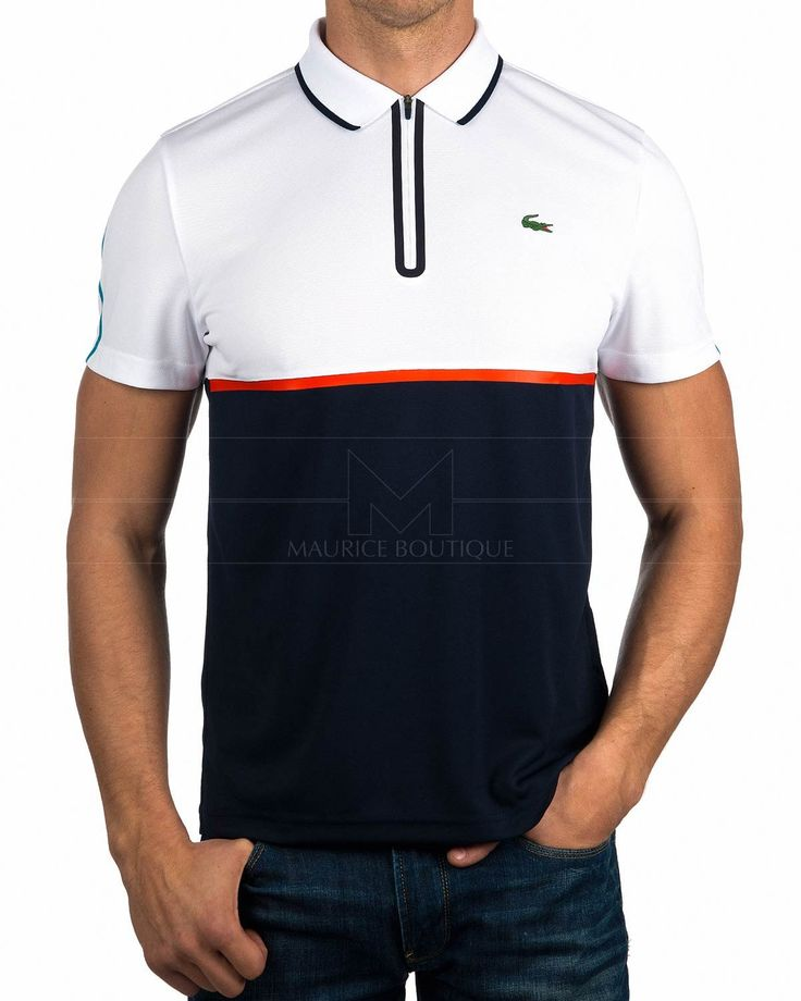Polos Lacoste ® Sport Blanco - Media Cremallera| ENVIO GRATIS