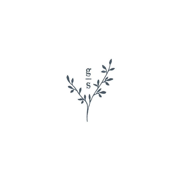 Logo for a botanical wedding