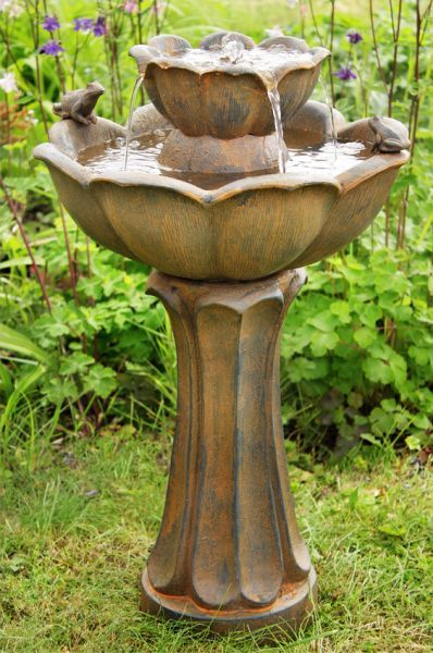 Petal Bird Bath Rust Effect Water Feature   This adorable water feature has been beautifully crafted from polyresin to create this…
