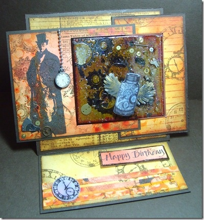 Steam punk easel card