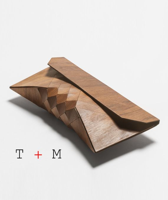 Wood Clutch // EMBOYA // by TeslerMendelovitch on Etsy, $400.00