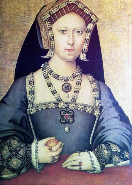 Princess Mary Tudor, younger sister of Henry VIII and younger child of Henry VII and Elizabeth of York.  She married Charles Brandon after the death of her first husband Louis XII.  This is supposed to represent Mary around the time of 1524 when the couple was already married to each other