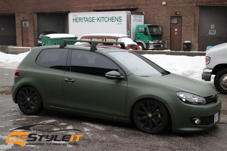 Vw Mk6 Matte Military Green Vinyl Car Wrap Toronto Car