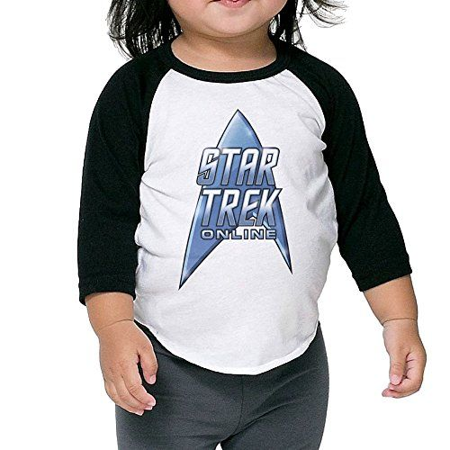 Children 34 Sleeve Star Trek Online Online Roleplaying Game Raglan Shirts Retro Jersey Shirt *** Click image for more details.