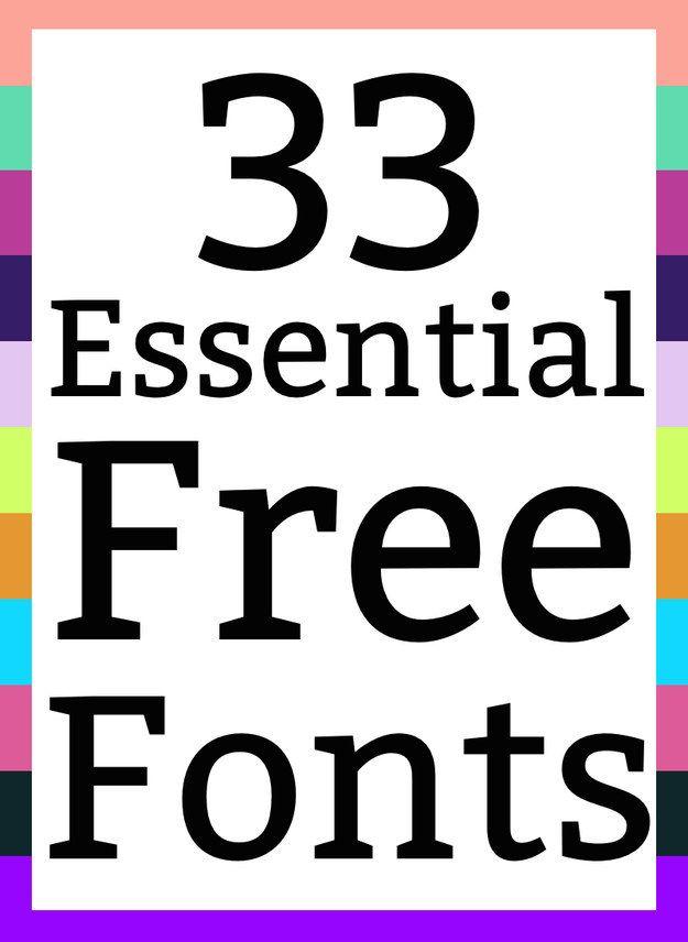 33 unentbehrliche kostenlose Schriftarten, die Sie herunterladen müssen
