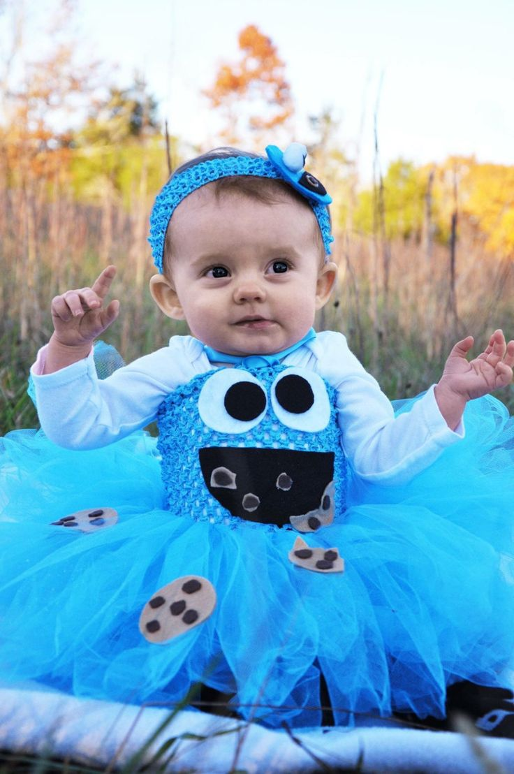 cookie monster inspired tutu dress baby costumesprincessbluecuteinfant - Baby Monster Halloween Costumes