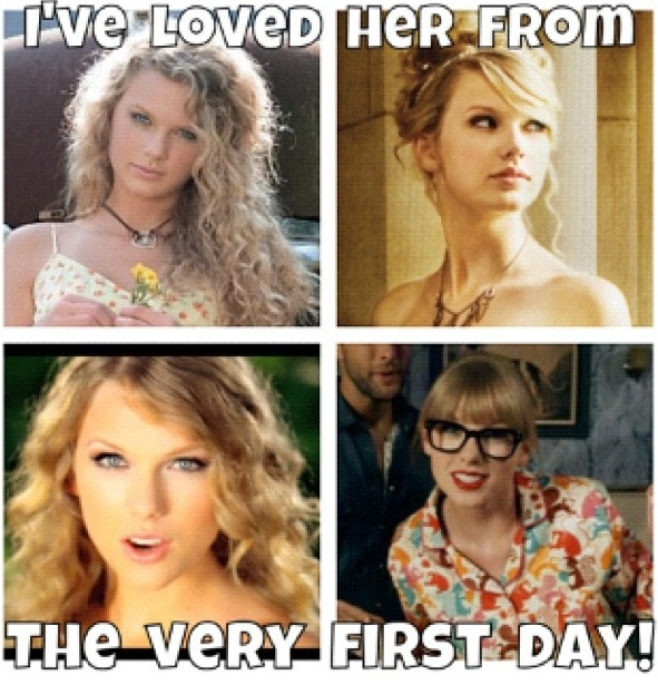 i actually heared about taylor swift in the fearless era. :( but I love her oldies too :)