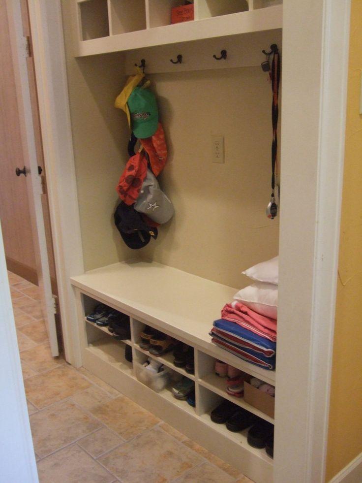 Best 25 front closet ideas on pinterest entryway closet - Shoe and coat storage ideas ...
