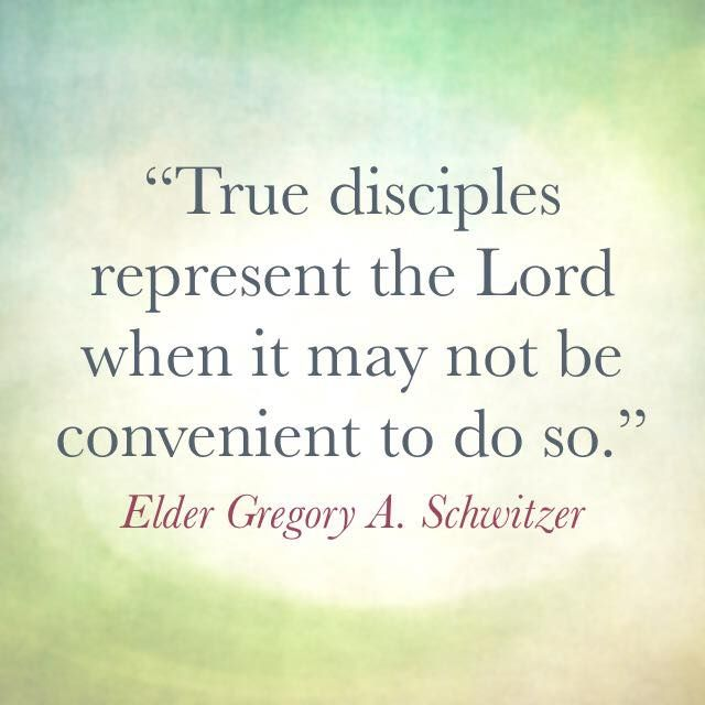 """Often it is not convenient or comfortable to stand up for Christ facebook.com/173301249409767 [but] true disciples represent the Lord when it may not be convenient to do so."" From #ElderSchwitzer's inspiring #LDSconf facebook.com/223271487682878 message lds.org/general-conference/2015/10/let-the-clarion-trumpet-sound #True #Christian #Discipleship #ShareGoodness"