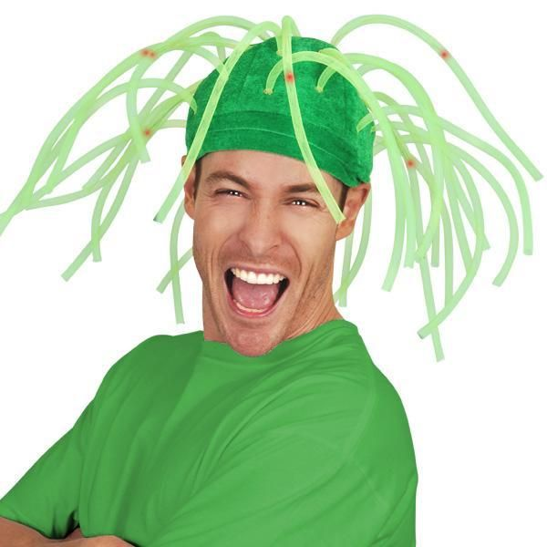 Let's Party With Balloons - Dr Tom's Noodle Hat Light up Green, $13.00 (http://www.letspartywithballoons.com.au/dr-toms-noodle-hat-light-up-green/)