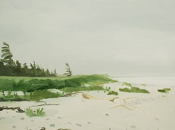 Sara MacCulloch, Tree & Beach  2012, Oil on canvas
