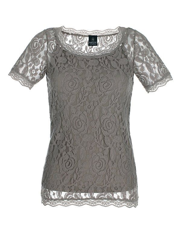 Kanten shirt & topje | Madeleine Mode