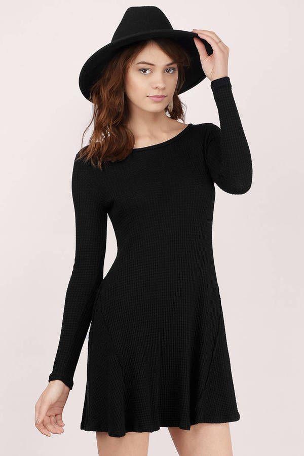 Cozy Up Knit Flare Dress at Tobi.com #shoptobi