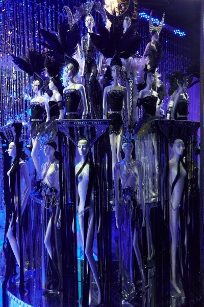 Detail of a Swarovski Christmas window at a Luxury Department Store realised by JUSTSO ltd.