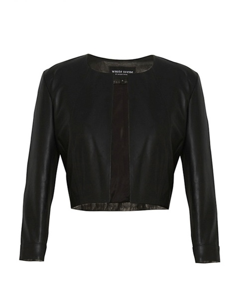Jacket - White Suede - Cropped Leather  $399.90