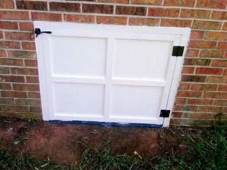 233 best garage door repair service images on pinterest carriage it seems like a broken record some days whatever it is its rotten the original crawlspace door was hanging by one hinge all wood was deteriorated and solutioingenieria Image collections