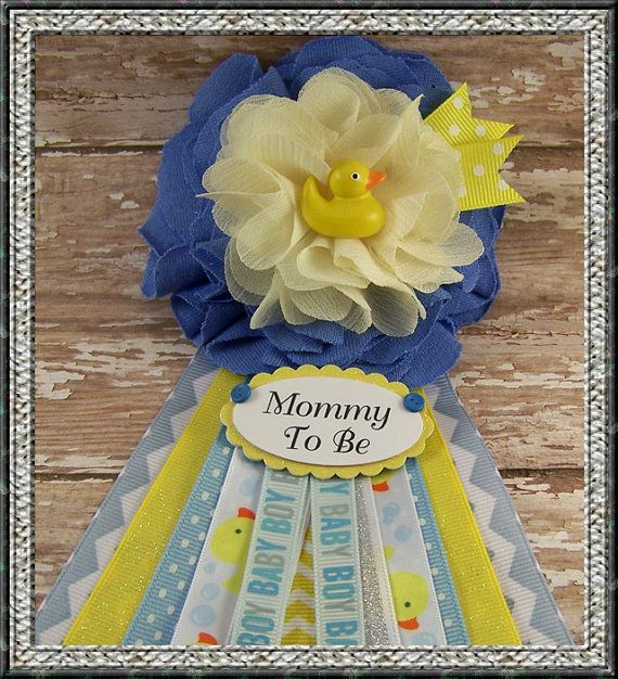 Boy Rubber Duck Mommy To Be Corsage Baby Shower Corsage Grandma To Be Corsage Mom Badge Rubber Duck Theme Corsage Fabric Flower