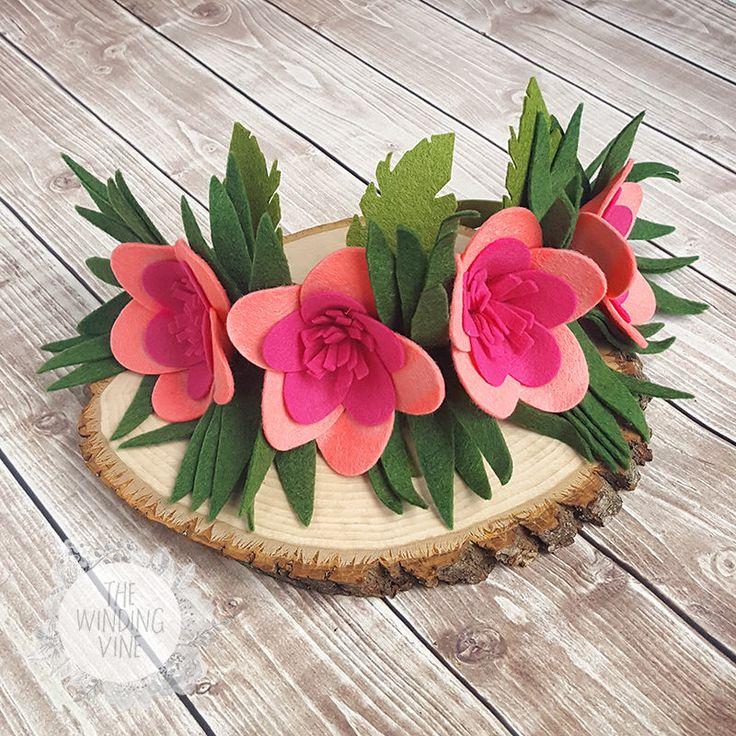 Moana Crown / Moana Headband / Moana Birthday / Moana Costume / Flower Crown / Hawaiian Crown /Tropical Crown / Hawaiian Headband / Plumeria by TheWindingVine on Etsy https://www.etsy.com/listing/515383740/moana-crown-moana-headband-moana