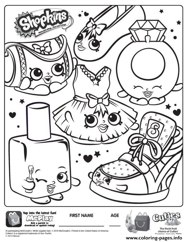 Print free shopkins new coloring pages Shopkins